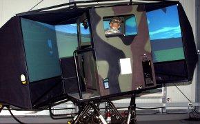simulatore di veicolo militare