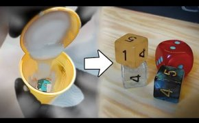 Come CREARE un DADO trasparente in resina