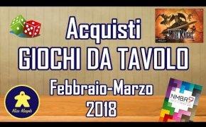 Acquisti Giochi da Tavolo (Febbraio - Marzo 2018)