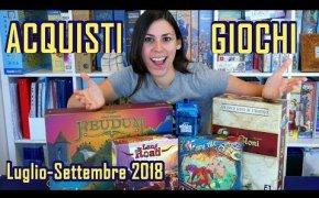 Acquisti Giochi da Tavolo (Luglio-Settembre 2018)