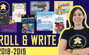I migliori giochi da tavolo Roll & Write (2018-2019)