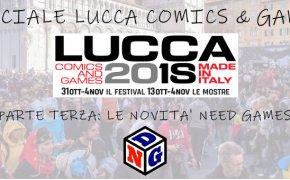 Road to Lucca Comics and Games 2018: un mare di novità da Need Games !
