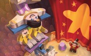 Un Meeple in equilibrio! Meeple Circus di Ghenos Games