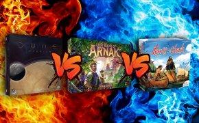 Versus: Dune Imperium VS Lost Ruins of Arnak VS Lewis & Clark