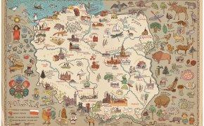 Polonia, mappa illustrata