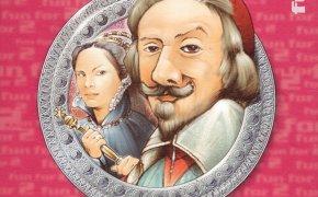 Copertina dell'edizione multi lingua del gioco per due giocatori Richelieu