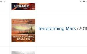 Terraforming Mars su BGG