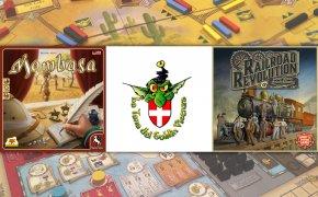 Serata di giochi all'associazione Magno Gato con Mombasa e Railroad Revolution