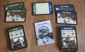 Componenti del gioco The Battle for Hill 218: carte e regolamento