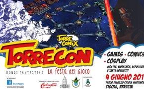 Manifesto Torrecon 2017: il festival del gioco del 4 giugno a Cigole, Brescia