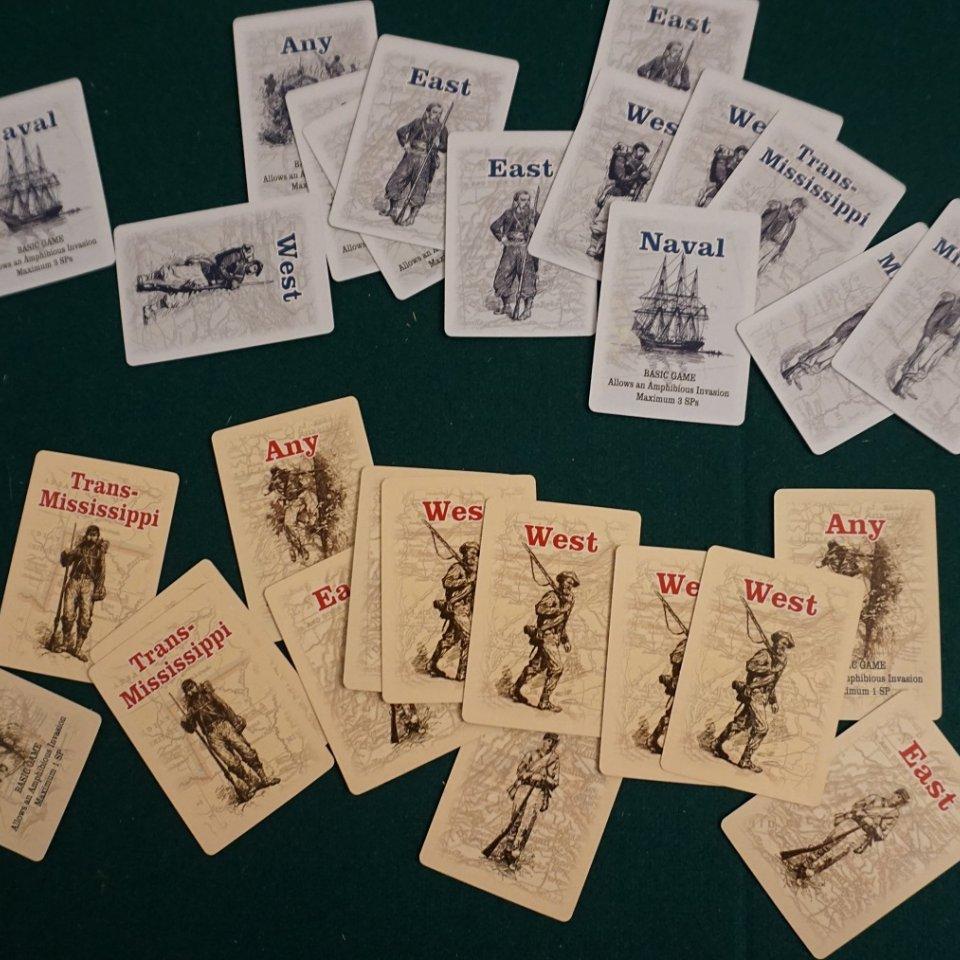 U.S. Civil War - Carte