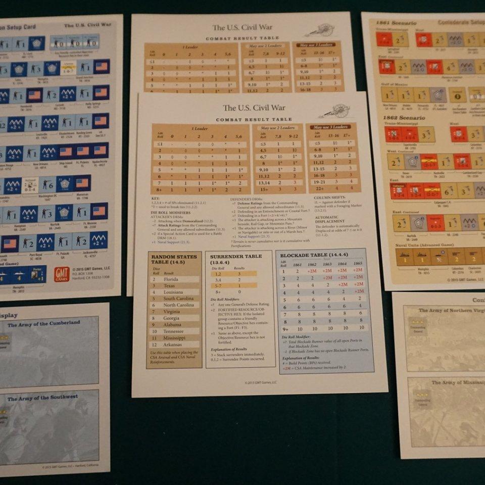 U.S. Civil War - Player Aid
