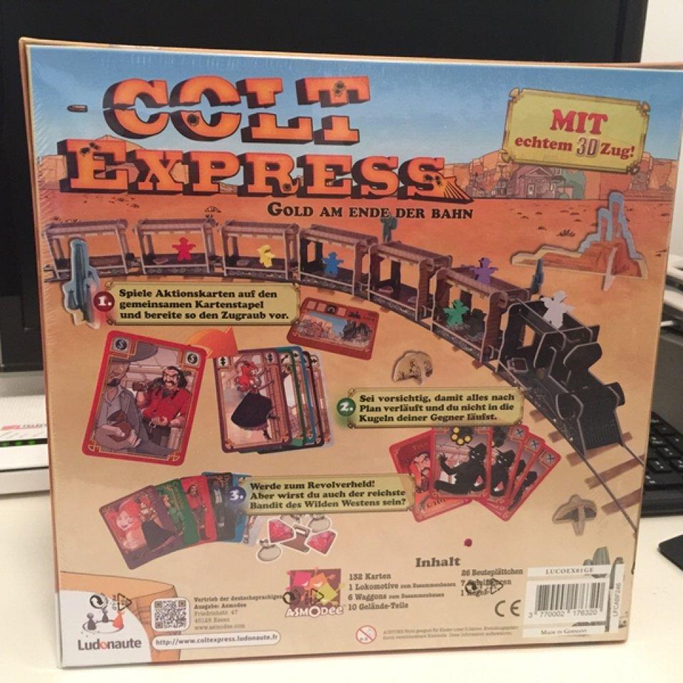 Retro della confezione di Colt Express