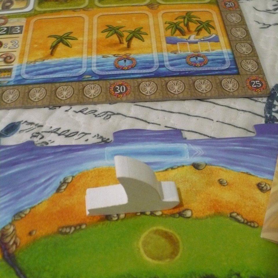 Condizione di fine partita: barca su spiaggia senza carte