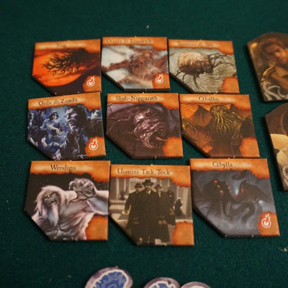 Eldritch Horror token mostri leggendari