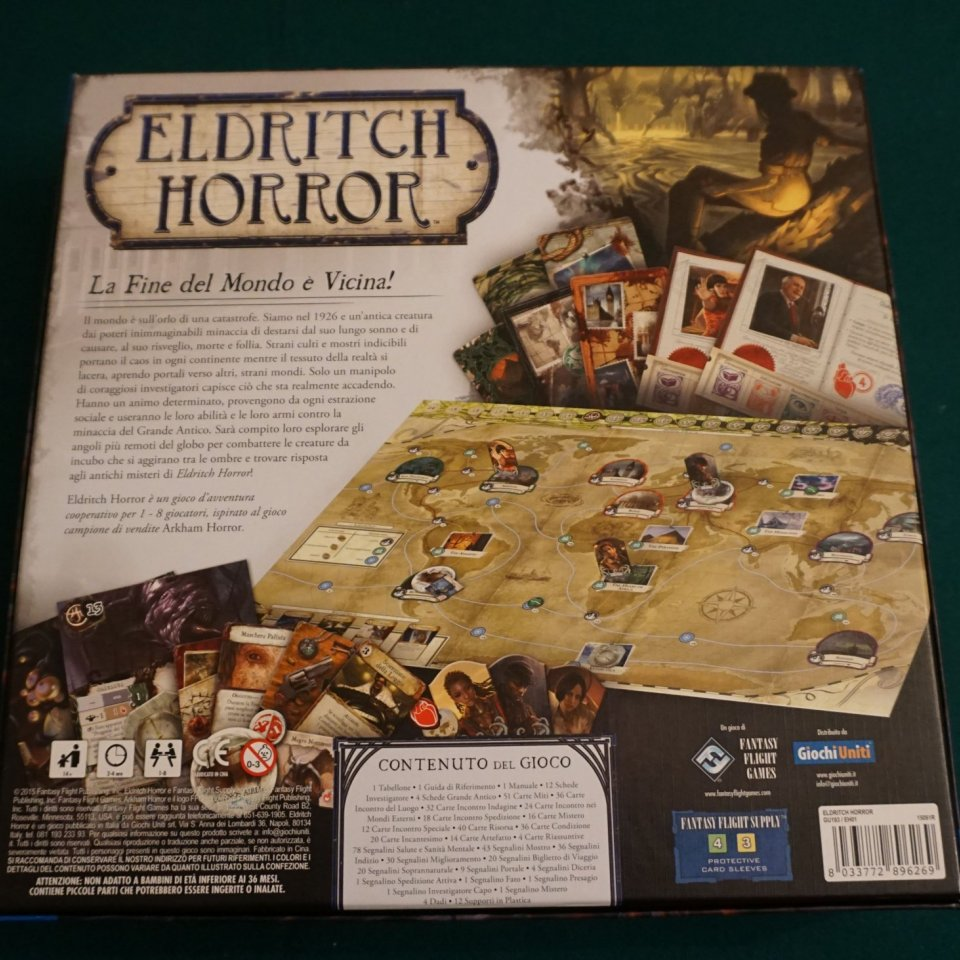 Eldritch Horror retro scatola
