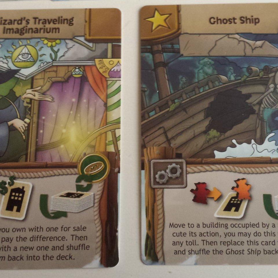 Carte speciali del gioco da tavolo Harbour