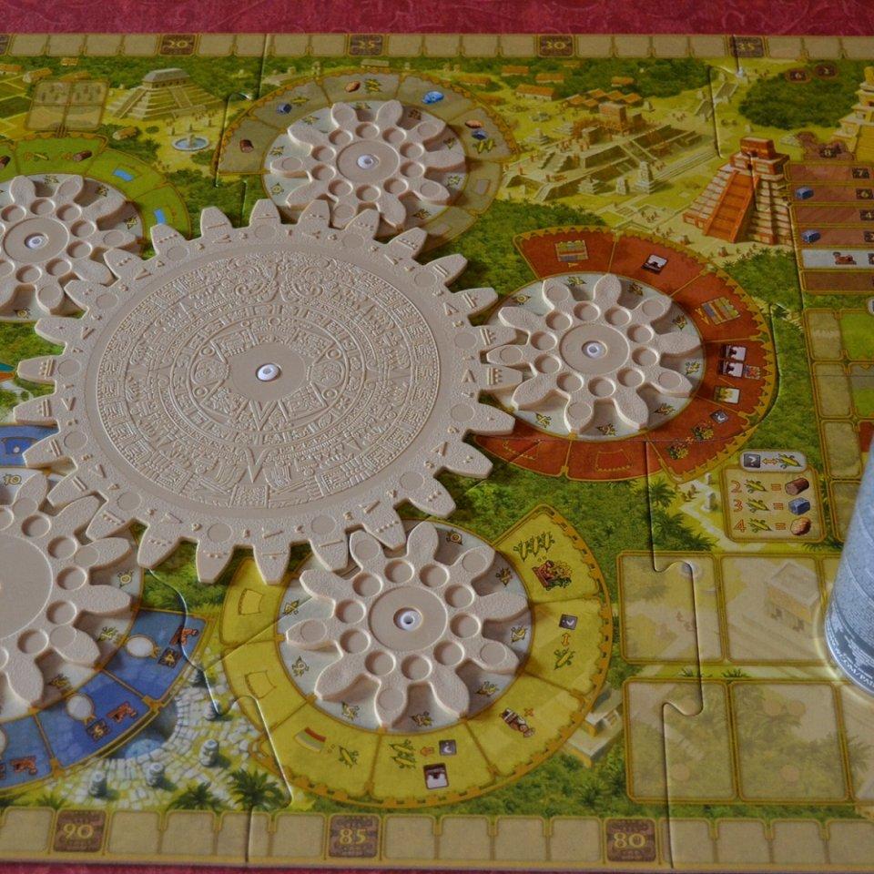 Tzolk'in 1 - Le ruote nella loro versione base presente nel gioco