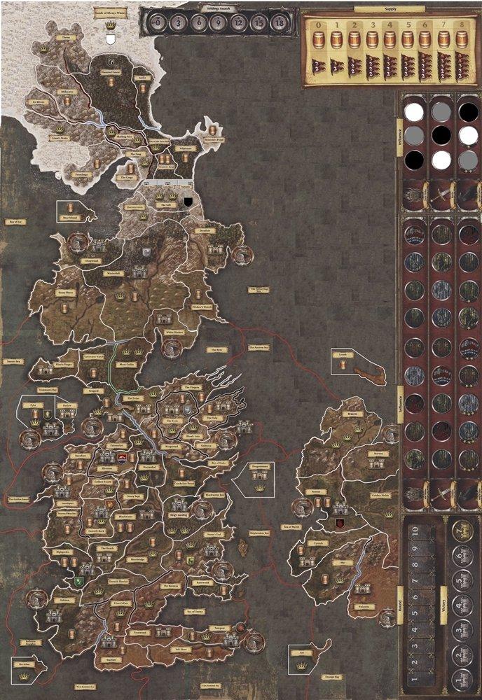Guide strategiche il trono di spade in 12 missive la for Il trono di spade gioco da tavolo