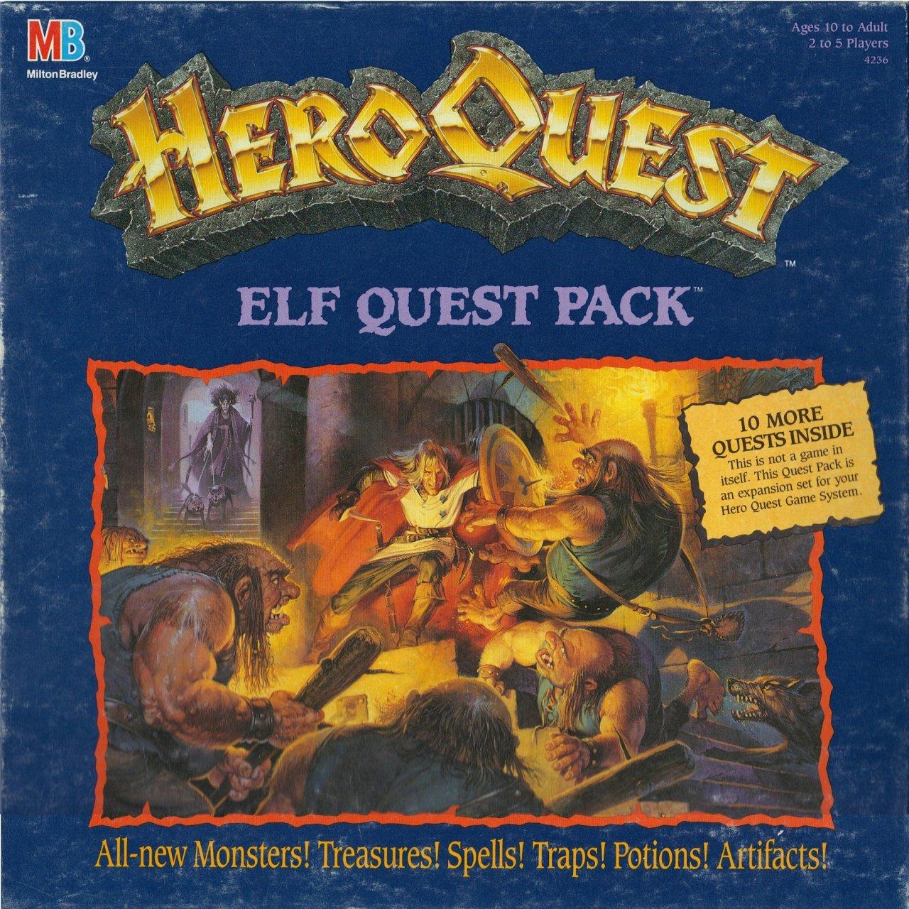 Heroquest Elf Quest Pack Espansione Gdt Tana Dei Goblin